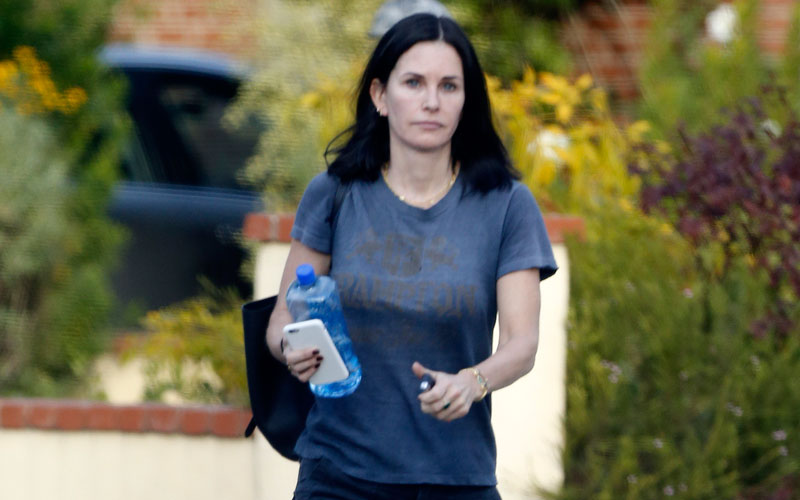 Courteney Cox Photos    Actress Visits Mystery Man After Breakup With Fiancé