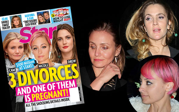 Drew barrymore pregnant divorce cameron diaz nicole richie club pp1