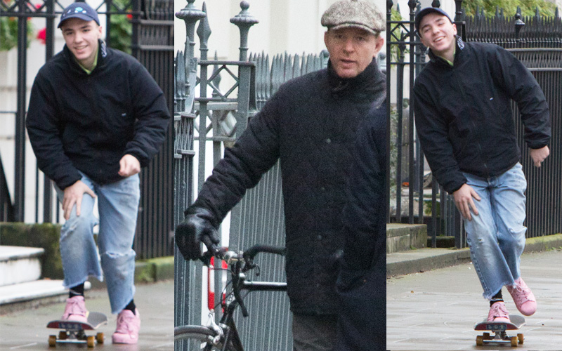 Rocco Ritchie Photos    Madonna's Son Looks Happy In London With His Father Guy Ritchie