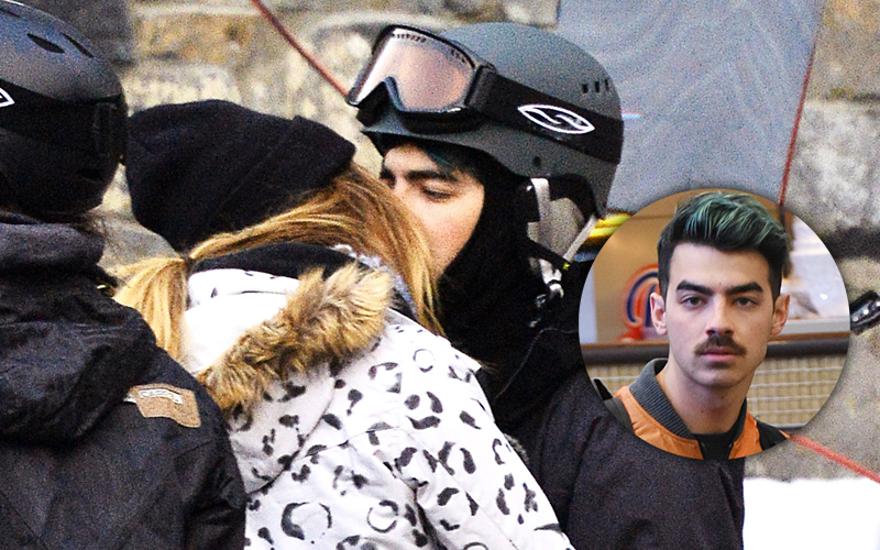 EXCLUSIVE: ** PREMIUM EXCLUSIVE RATES APPLY**  Joe Jonas was spotted sharing a intimate kiss with Former America's Next Top Model Contestant Jessica Serfaty in Mammoth Lakes, , CA.