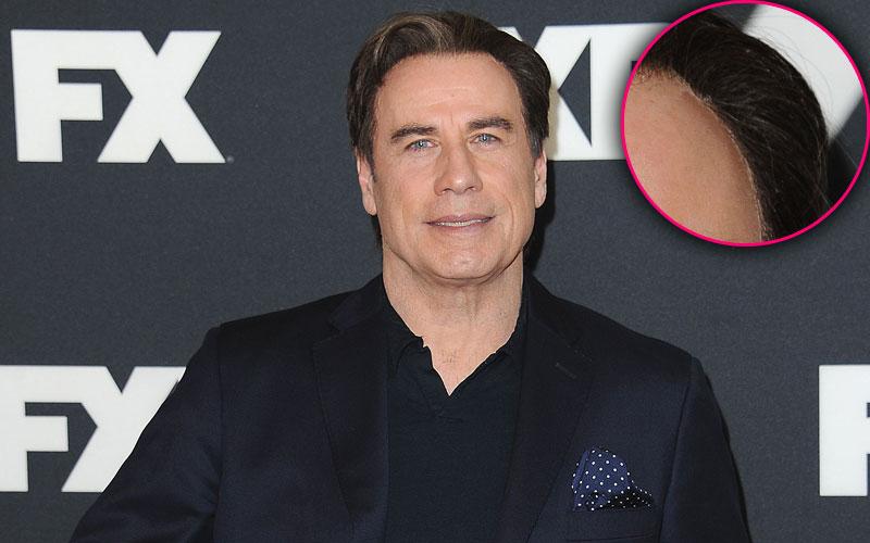 john travolta hair wig glue