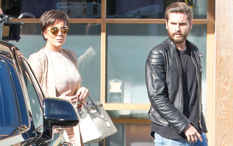 scott disick kris jenner kuwtk film without kourtney kardashian
