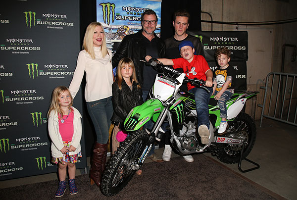 tori spelling broke bankrupt debt motocross photos