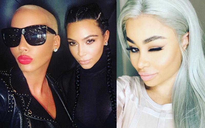 Amber rose hangs out kim kardashian blac chyna friends family react pp