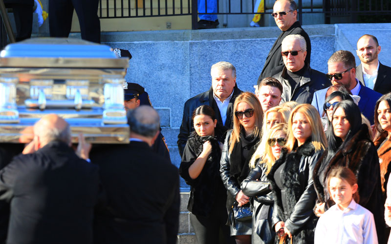Big ang funeral casket photos karen gravano attends despite ban