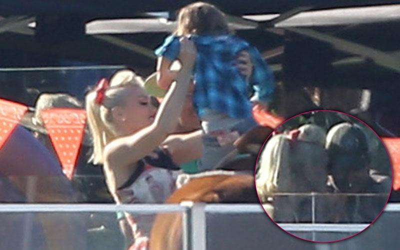 Gwen Stefani & Blake Shelton Throw Birthday Party For Apollo Rossdale