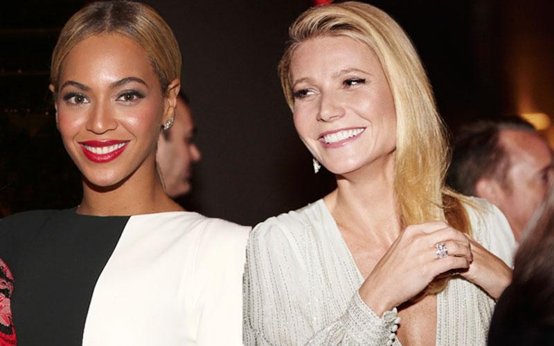 gwyneth paltrow beyonce friends again