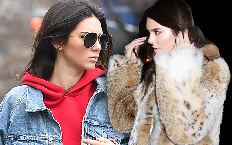 kendall jenner fur fashion week protest