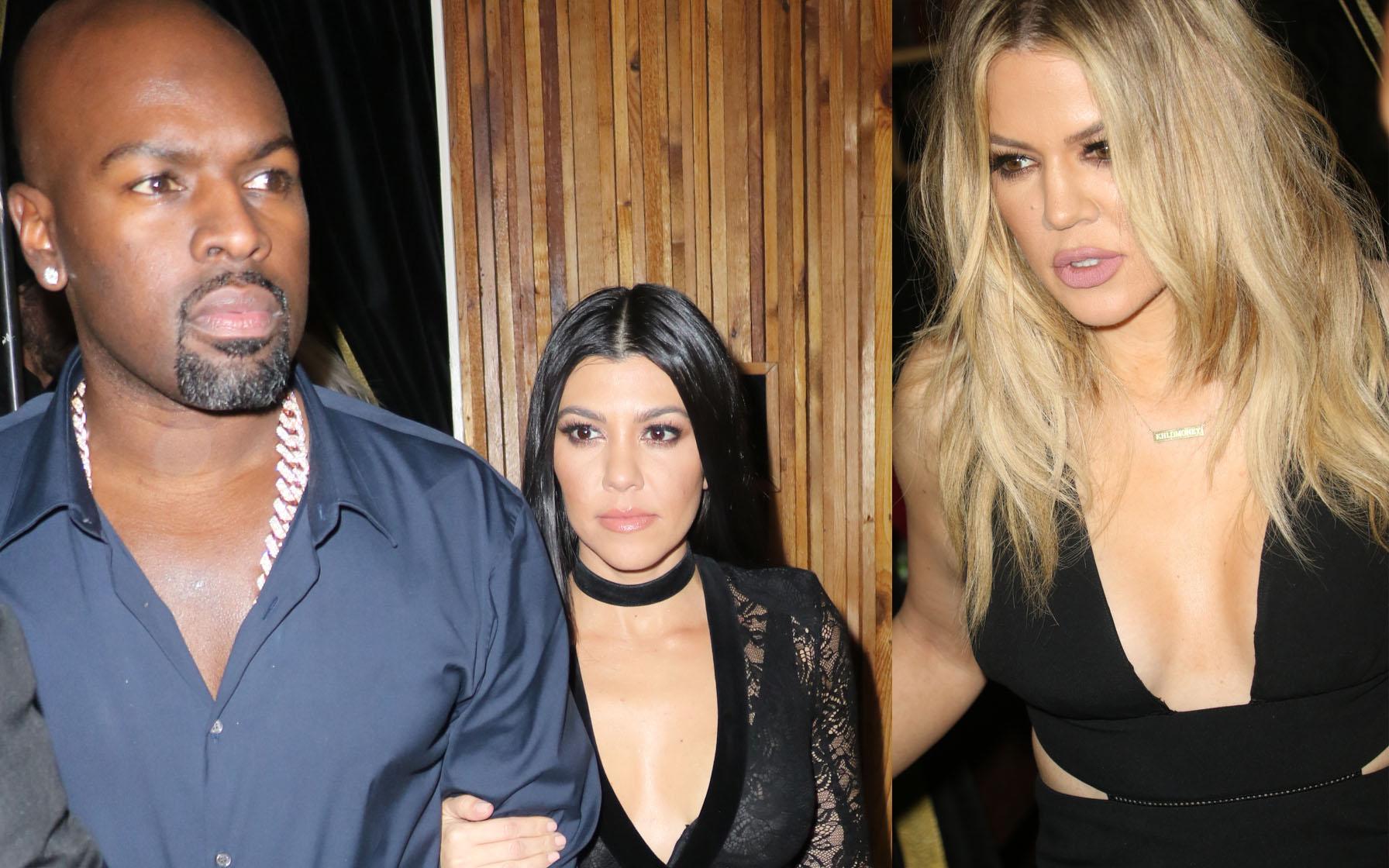 Khloe kardashian kourtney kardashian corey gamble justin bieber party