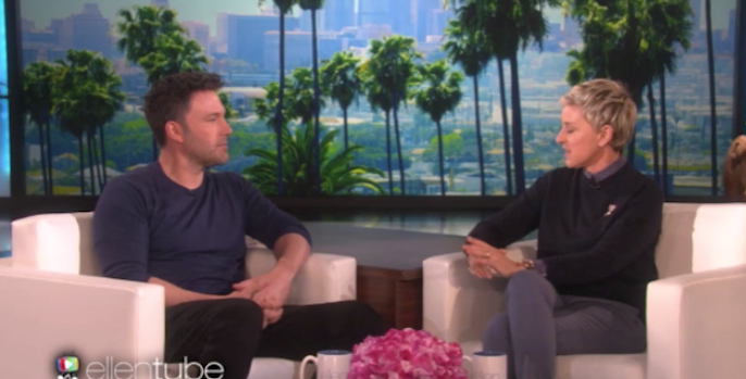 ben affleck divorce kids ellen interview