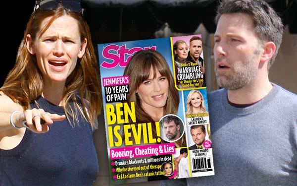 Ben Affleck Jennifer Garner Divorce Marriage Secrets Lies Evil PP
