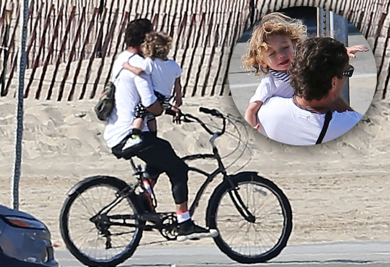 Gavin rossdale carries baby bike without helmet apollo 01
