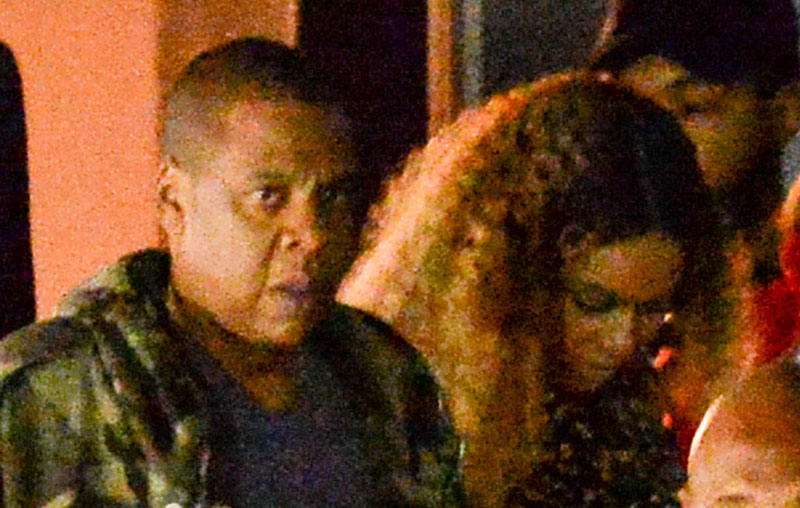 EXCLUSIVE: Jay Z accompanies Beyonce at the launch party for her first artist Sophie Beem in Hollywood