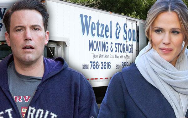 Jennifer Garner Ben Affleck Out House Moving Trucks Fight Pics 2