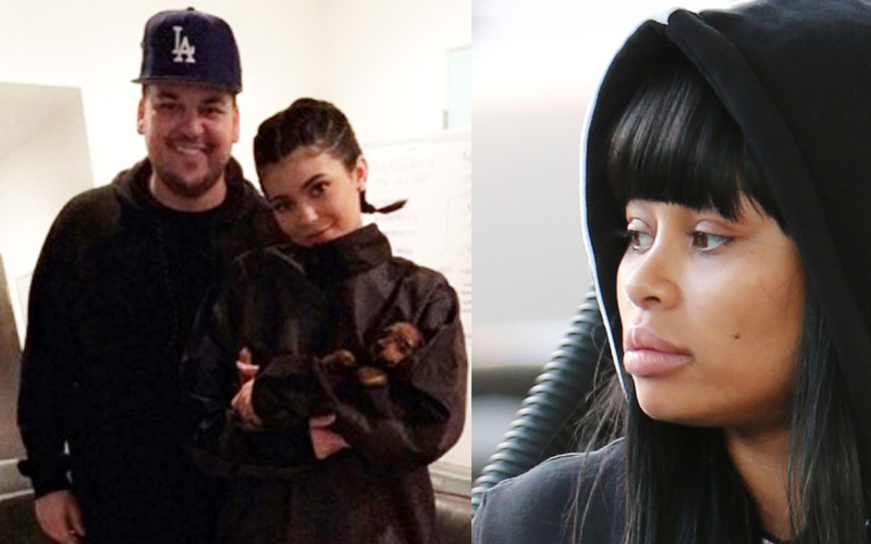 rob kardashian photos kylie jenner turning on blac chyna