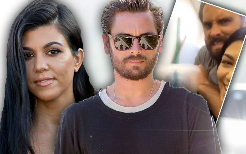 scott disick kourtney kardashian snapchat back together videos