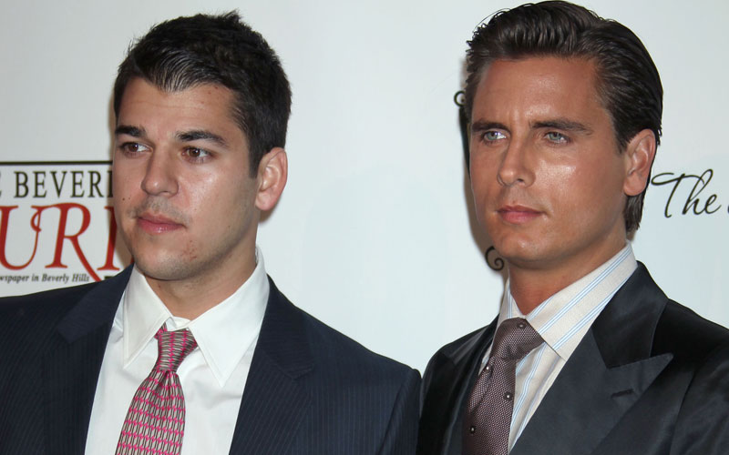 scott disick reveals rob kardashian not want fame