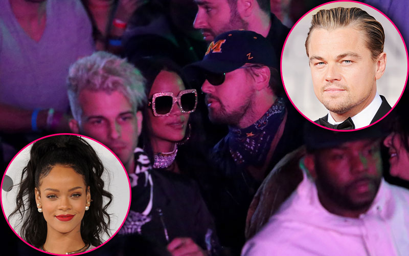 leonardo dicaprio rihanna dating kissing pda