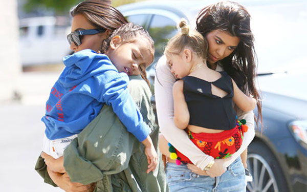 north west penelope disick nap skating pics