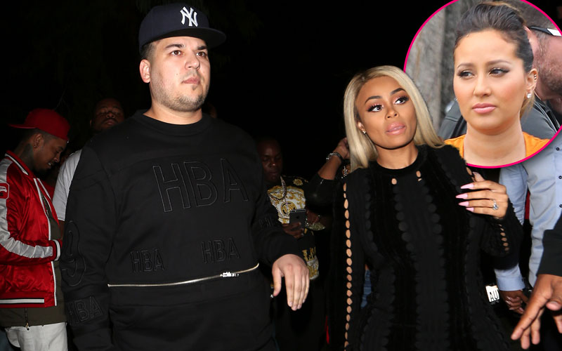 adrienne bail on talks rob kardashian boac chyna engagement