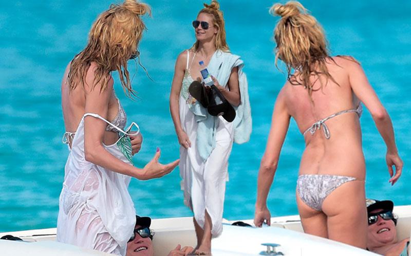 heidi klum topless bikini naked vito schnabel pics