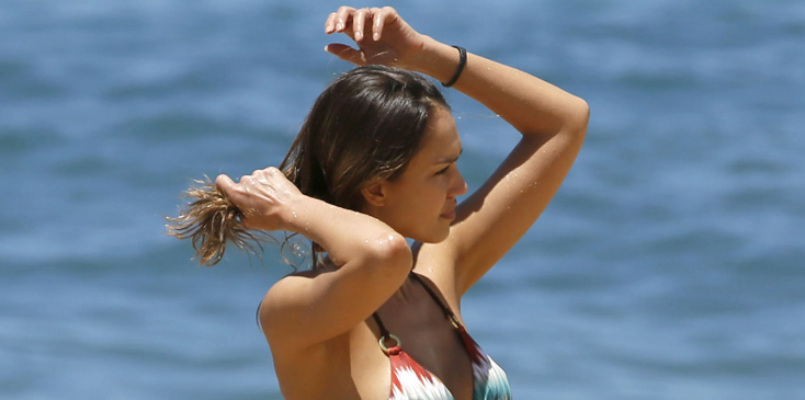 Jessica alba bikini body hawaii vacation