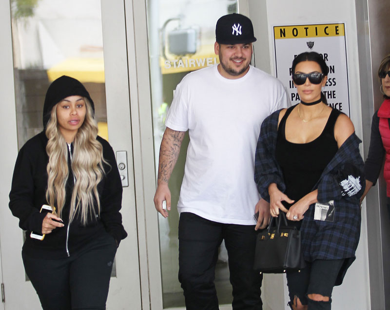 Kim kardashian hangs out with blac chyna rob kardashian 14