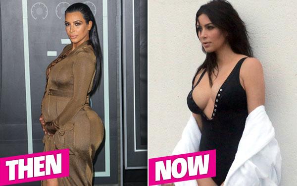 Kim Kardashian Weight Loss Skinny Bikini Post Baby Body Pics 8