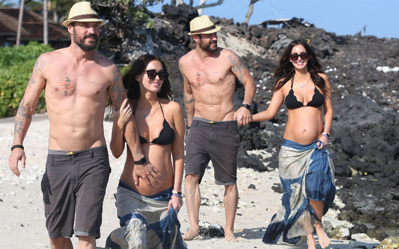 Megan Fox Pregnant Bikini Baby Bump Divorce Rumors