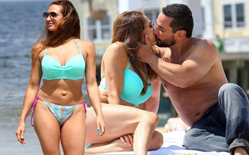 amber marchese bikini topless beach pics
