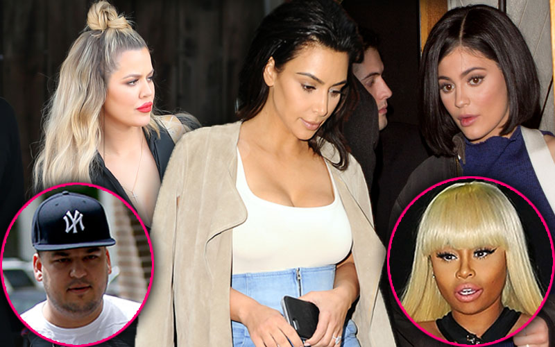 blac chyna rob kardashian pregnant kim kardashian khloe kardashian kylie jenner react