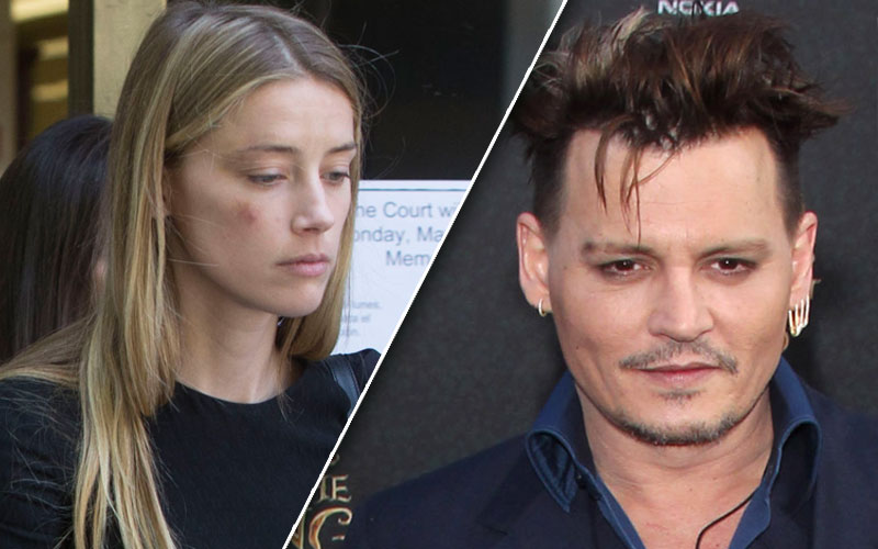 amber heard johnny depp divorce domestic violence restraining order leaves court bruise pics