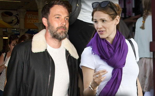 Ben Affleck Jennifer Garner Family Vacation Eurostar Paris London
