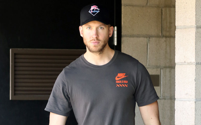 calvin harris car crash leaves hospital no private room