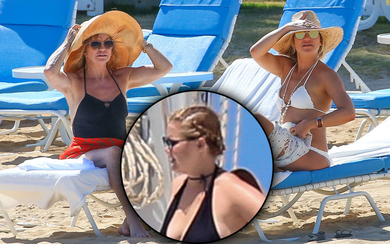 goldie hawn kate hudson amy schumer beach body hawaii pics