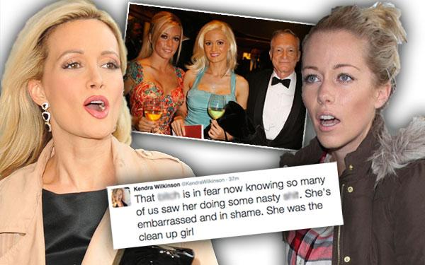 Holly Madison Kendra Wilkinson Feud Playboy Mansion Secrets Hugh Hefner Tweets 3