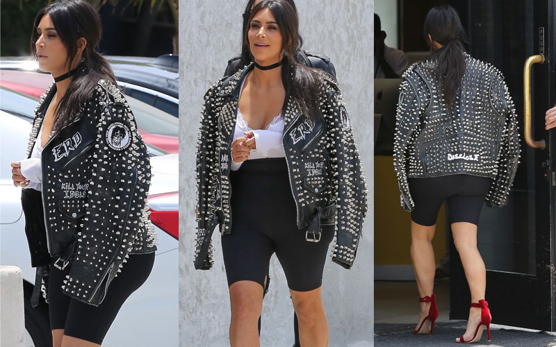 Kim kardashian mom wears spandex shorts to snapchat meeting 02