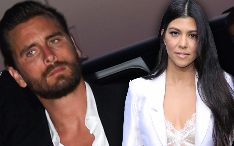 kourtney kardashian scott disick feud custody arrangement partying binge