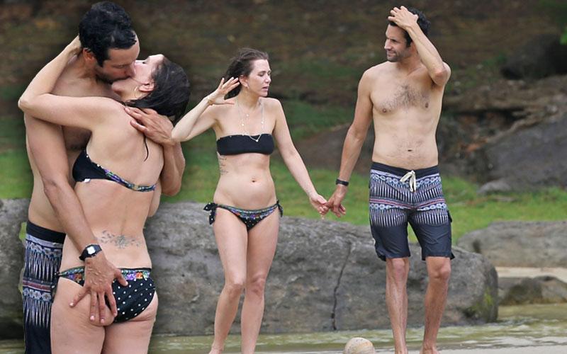 kristin wiig bikini boyfriend avi rothan pda hawaii pics