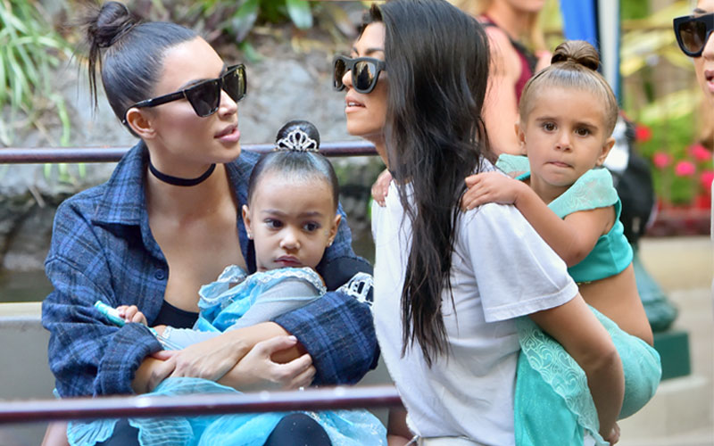 north west penelope disick princess makeover disneyland pics