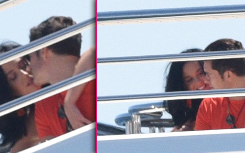 orlando bloom selena gomez katy perry kissing yacht pda pics