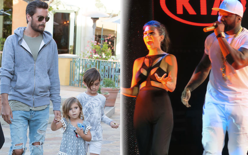 scott disick kourtney kardashian split parties vegas no kids