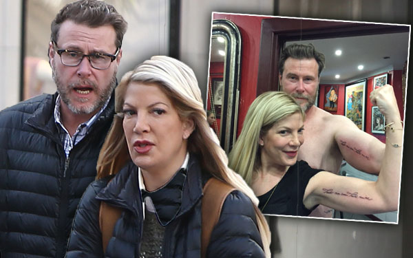 Tori Spelling Matching Tattoos Paris Vacation Money Problems Pics 1