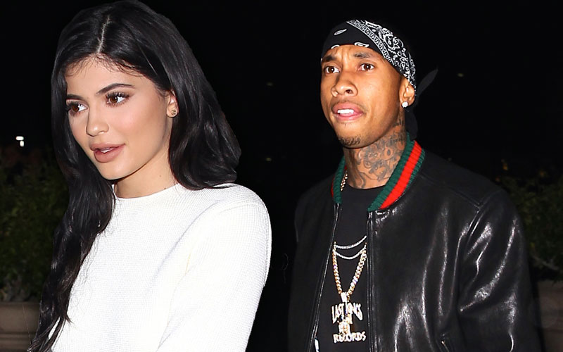 tyga kylie jenner breakup party mystery women