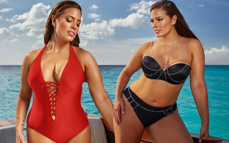 ashley graham bikini body bathing suit pics