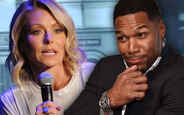 Kelly Ripa Michael Strahan Feud Celebs Take Sides The Rock 7
