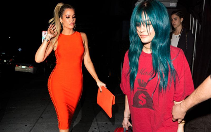 Khloe Kardashian Weight Loss Tight OrangeDress