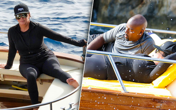 Kris Jenner Corey Gamble Italy Wetsuit Weight Gain Pics 11