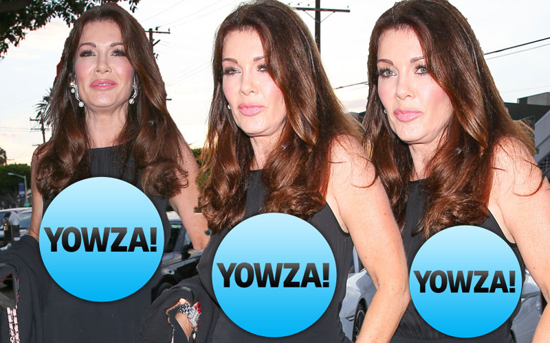 lisa vanderpump nipples black sheer shirt pics