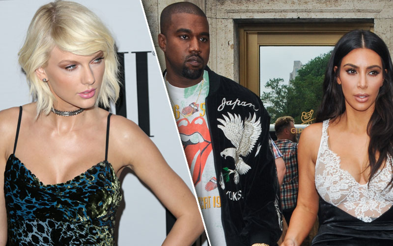 taylor swift kanye west feud kim kardashian gq diss famous track recorded conversation